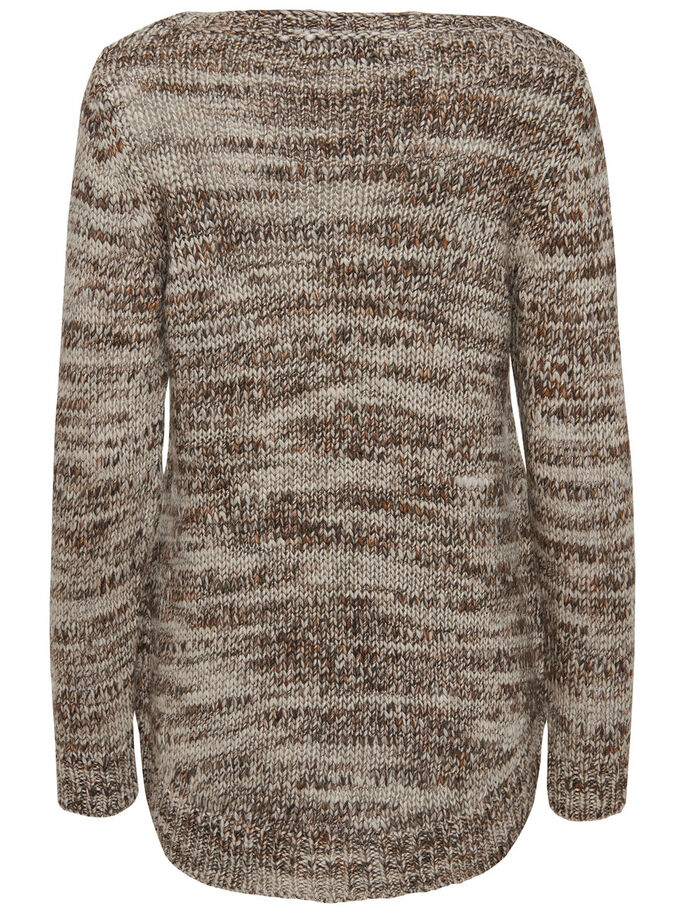 AMPLE PULL EN MAILLE, Deep Taupe, large