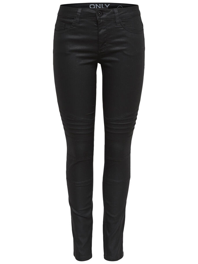 ROBBI REG BIKER SKINNY FIT JEANS, Jet Set, large