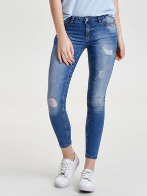 JDY LOW MAGIC DESTROY ANKLE SKINNY FIT JEANS