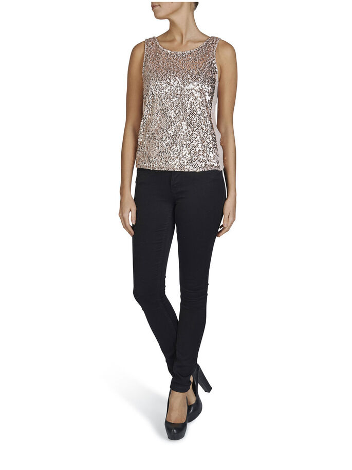 SEQUIN SLEEVELESS PARTY TOP, Rose Smoke, large