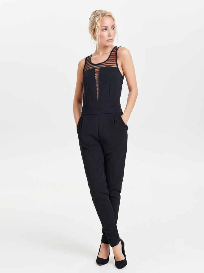 EINFARBIGER JUMPSUIT, Black, large