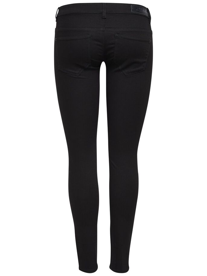 CORAL SUPERLOW SKINNY JEANS, Black, large