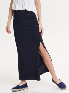 SOLID MAXI SKIRT