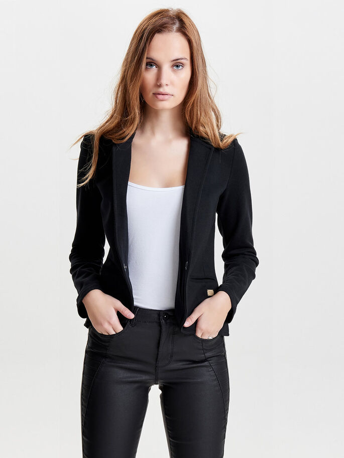 SWEAT BLAZER, Black, large