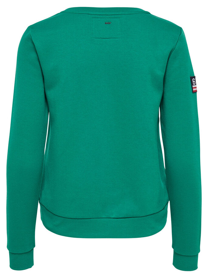 PATCH SWEATSHIRT, Ultramarine Green, large