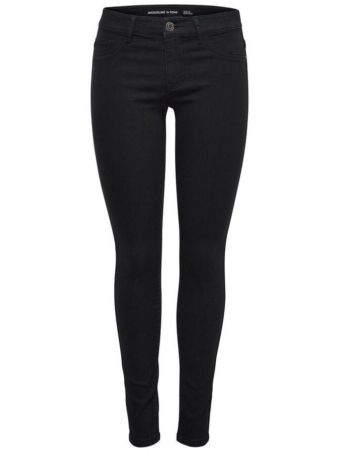 JDY LOW EAGLE SKINNY FIT JEANS, Black, large
