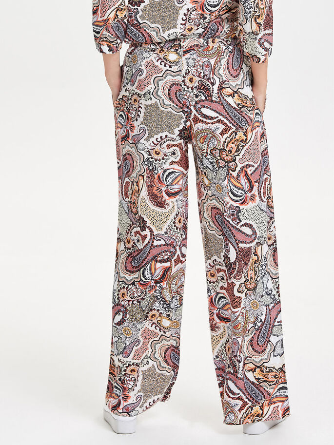 PRINTED TROUSERS, Cloud Dancer, large
