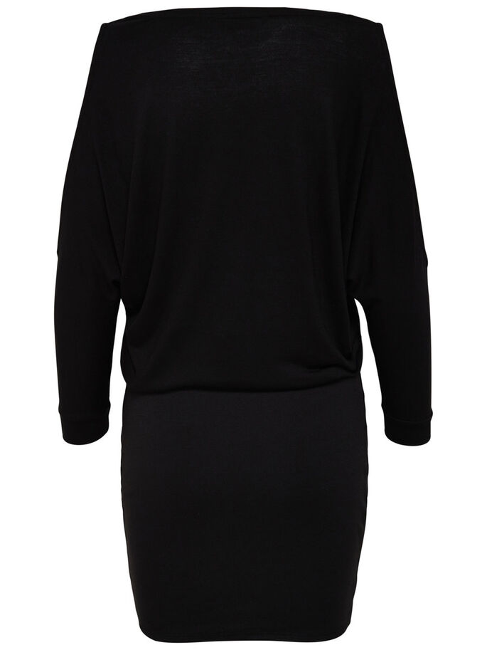 COLD-SHOULDER LONG SLEEVED DRESS, Black, large