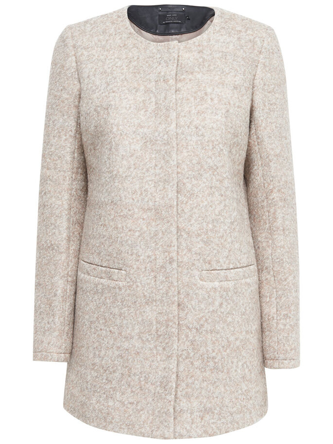 WOOL COAT, Simply Taupe, large