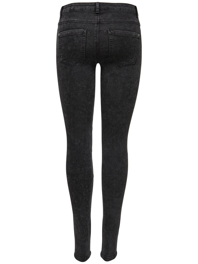 ROBBI REG ACID BIKER SKINNY JEANS, Black, large