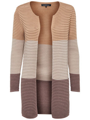 CONTRAST KNITTED CARDIGAN
