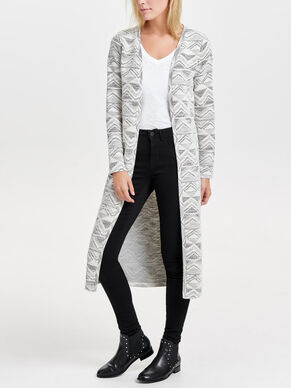 LONG KNITTED CARDIGAN