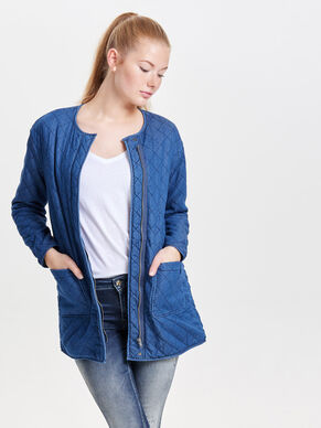 LONG DENIM QUILTED JACKET