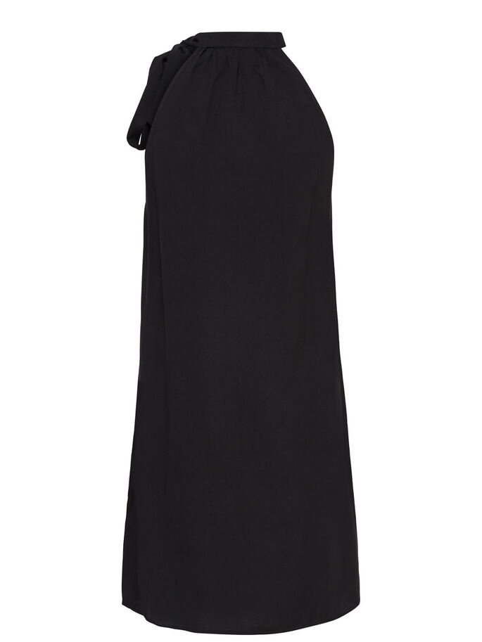 HALTERNECK SLEEVELESS DRESS, Black, large