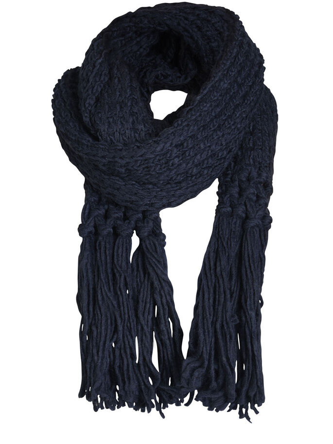 KNITTED SCARF, Navy Blazer, large