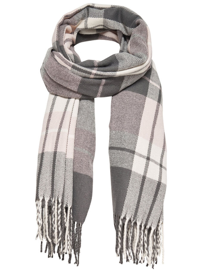 CHECKED SCARF, Rose Smoke, large