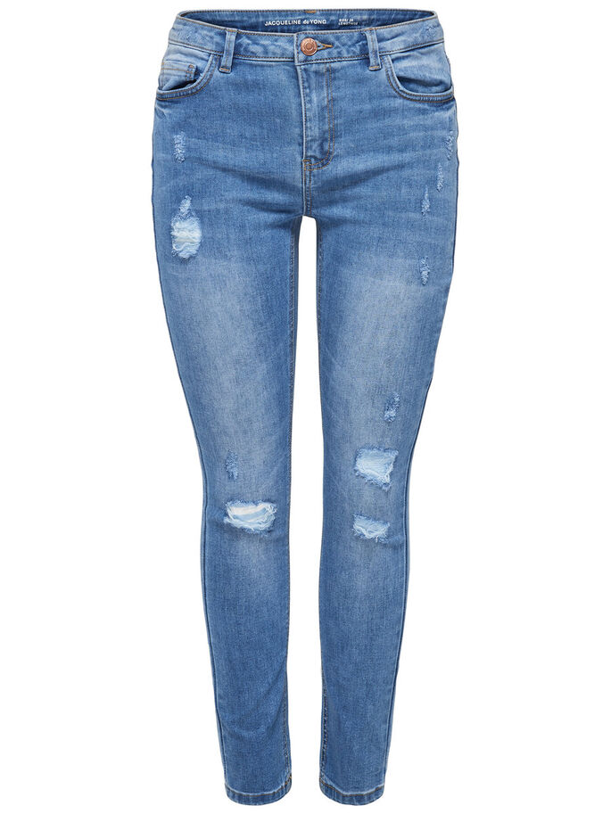 JDY NOME GIRLFRIEND JEAN DROIT, Medium Blue Denim, large