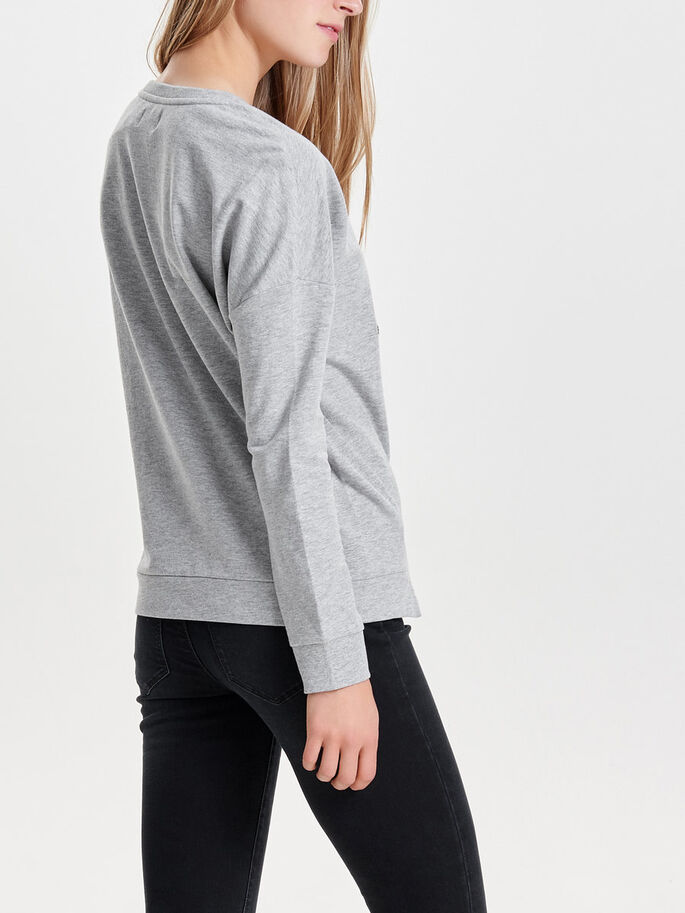 CHRISTMAS SWEATSHIRT, Light Grey Melange, large