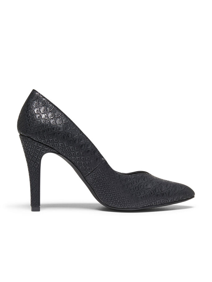 SNAKE LOOK PUMPS, Black, large