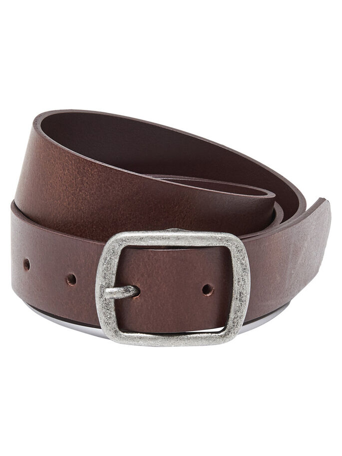 LEATHER BELT, Brown Stone, large