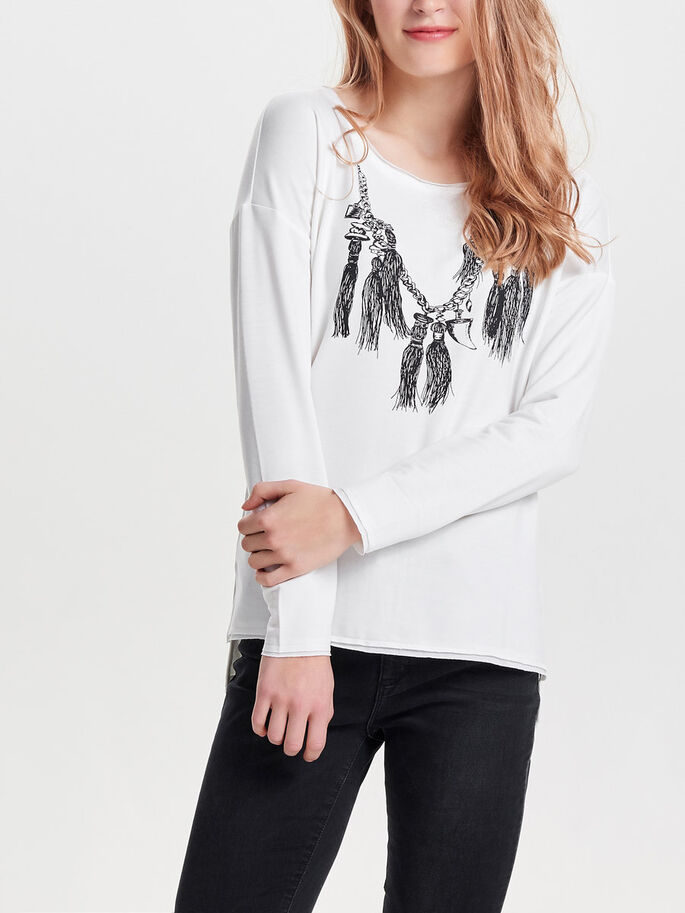 DETALJERT SWEATSHIRT, Cloud Dancer, large