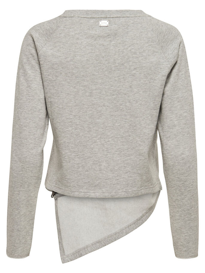 ZIP SWEATSHIRT, Light Grey Melange, large