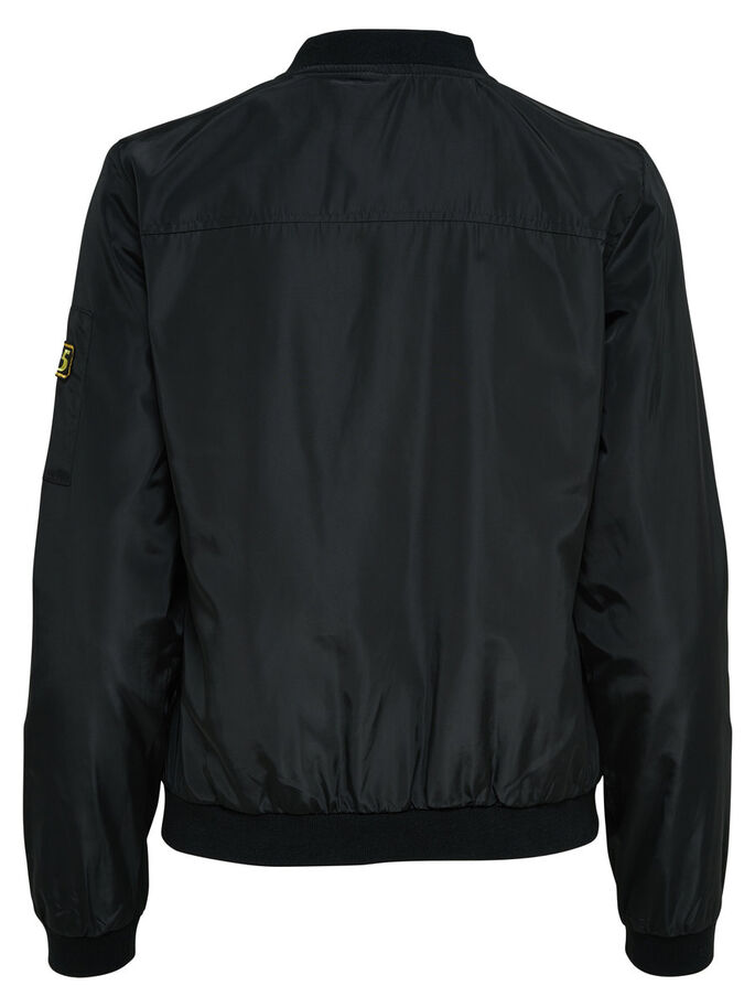 NYLON BOMBER JACKETS, Black, large
