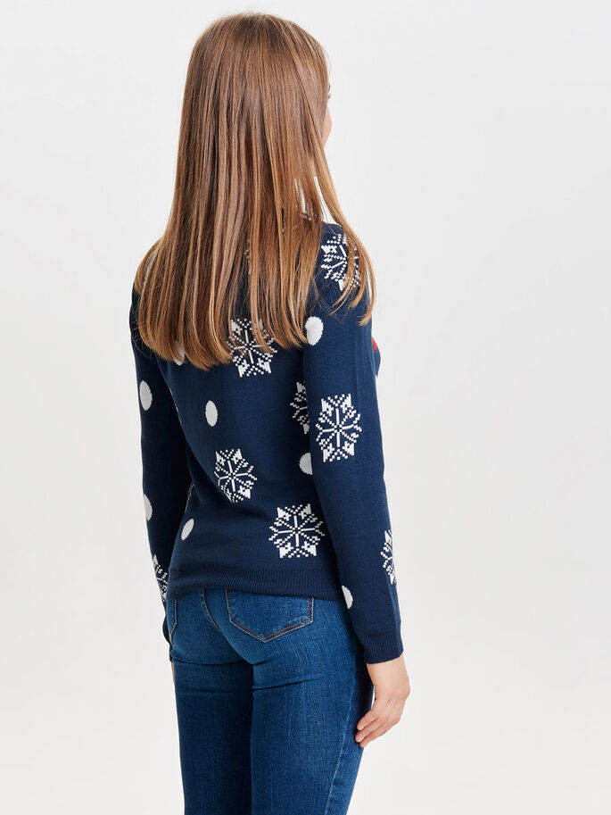 CHRISTMAS PULLOVER, Navy Blazer, large