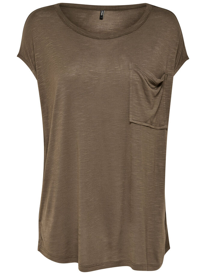 LOOSE SHORT SLEEVED TOP, Tarmac, large