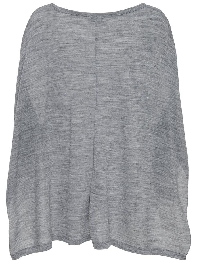 DE CORTE HOLGADO CAMISETA 3/4, Light Grey Melange, large