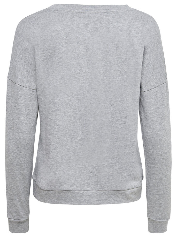 BEDRUCKTES SWEATSHIRT, Light Grey Melange, large