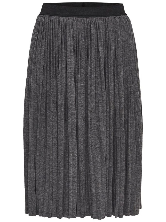 PLEATED SKIRT, Medium Grey Melange, large