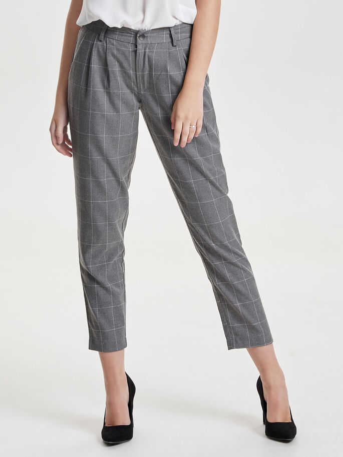 KARIERTE HOSE, Medium Grey Melange, large
