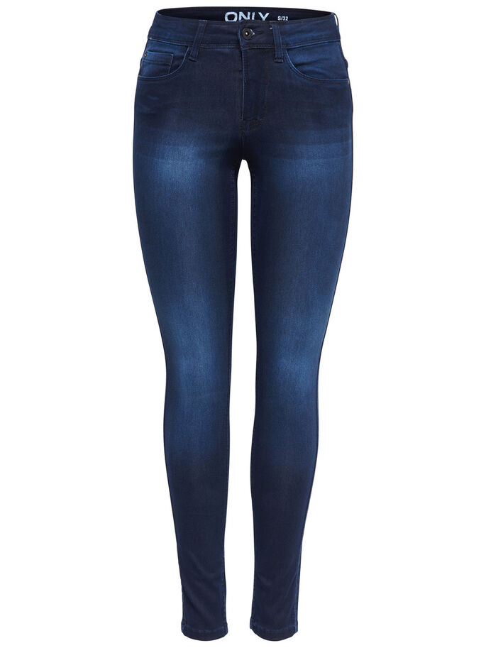 NEW REG. SOFT ULTIMATE SKINNY JEANS, Dark Blue Denim, large