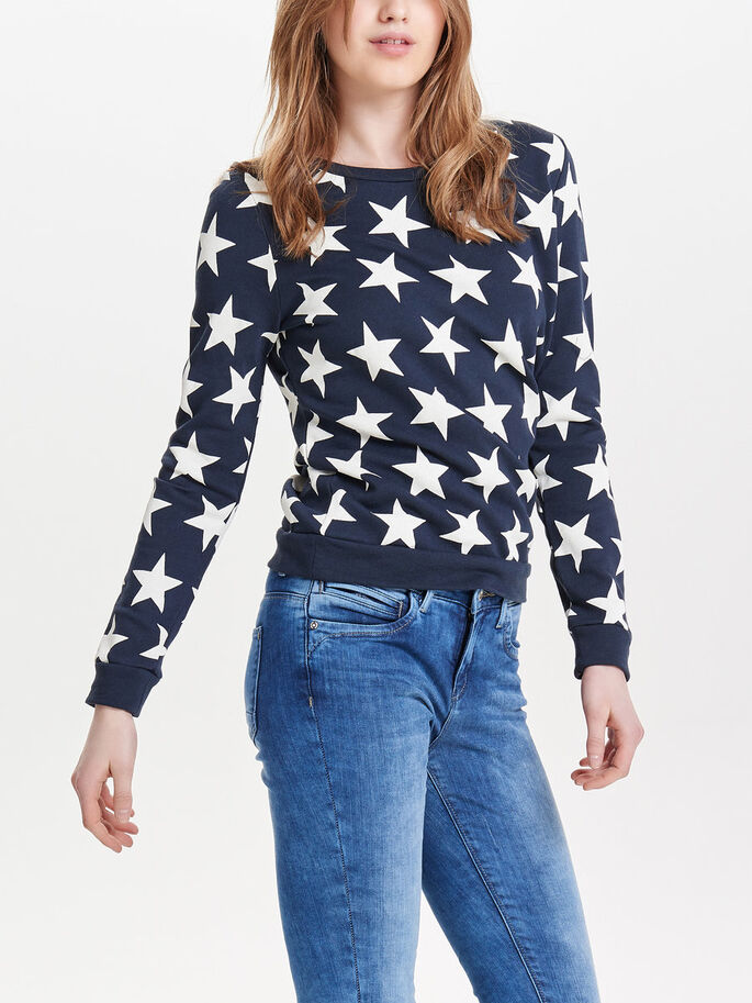 BEDRUCKTES SWEATSHIRT, Blue Nights, large