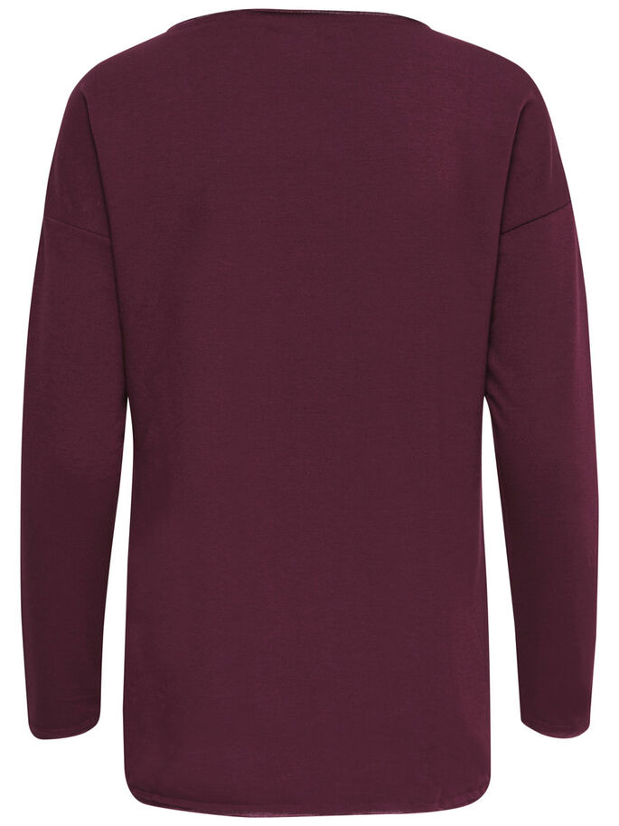 DETAILED SWEATSHIRT, Windsor Wine, large