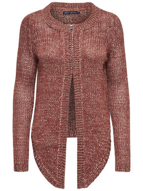 ZIP KNITTED CARDIGAN