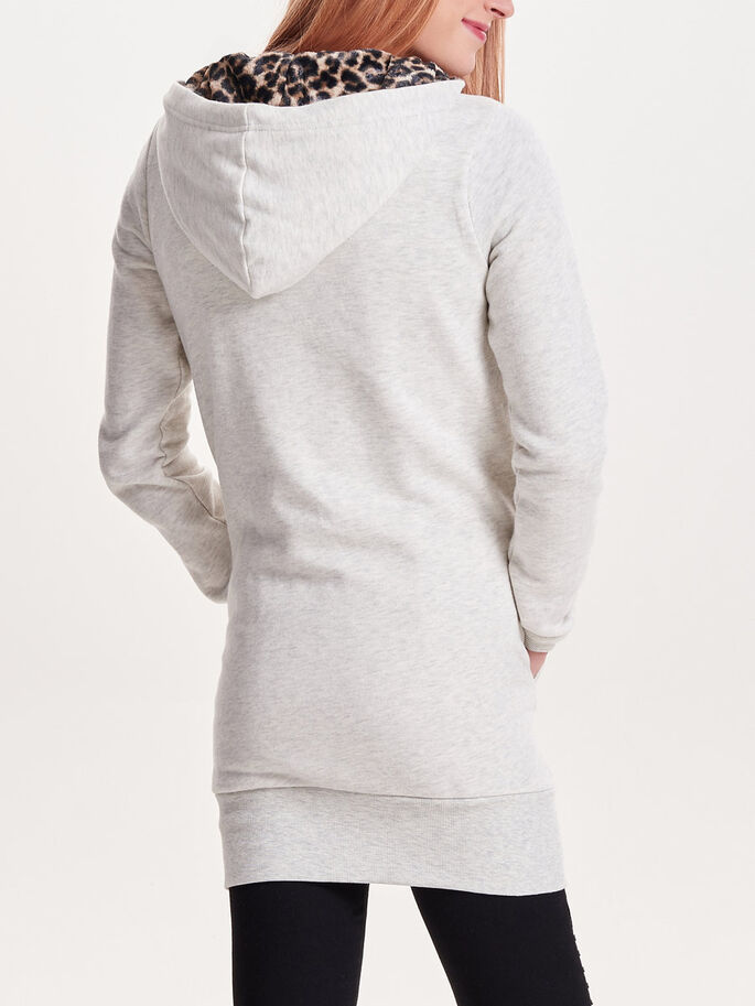 LONG DOUX SWEAT-SHIRT, Pumice Stone, large