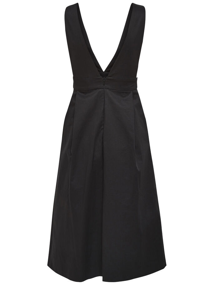 STRAP DRESS, Black, large