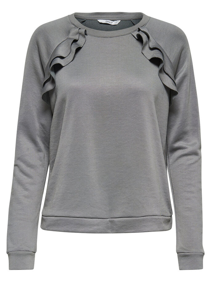 FRANJE SWEATSHIRT, Dark Grey, large