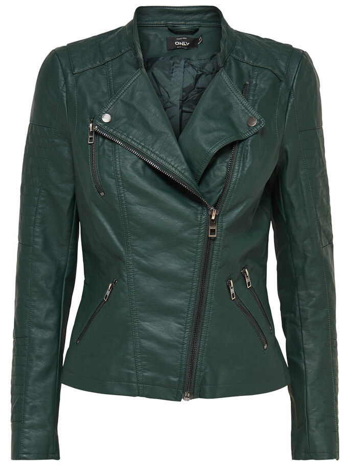 FAUX LEATHER BIKER JACKETS, Scarab, large