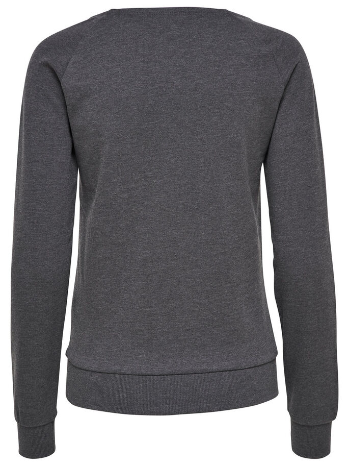 SWEAT SPORTSHIRT, Dark Grey Melange, large