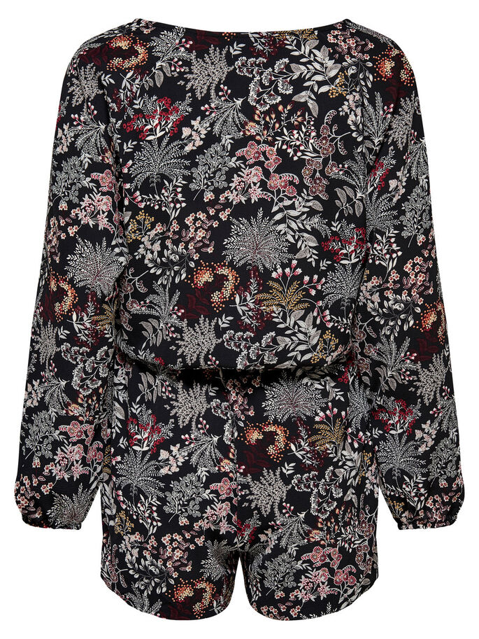 PRINT PLAYSUIT, Black, large