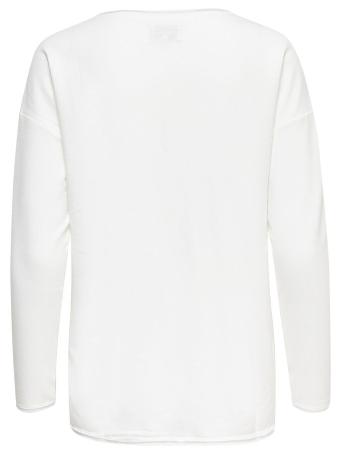 GEDETAILLEERD SWEATSHIRT, Cloud Dancer, large