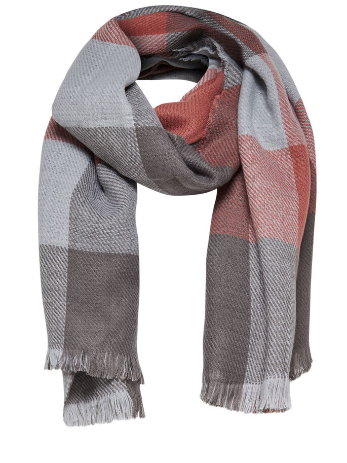 CHECKED SCARF, Micro Chip, large