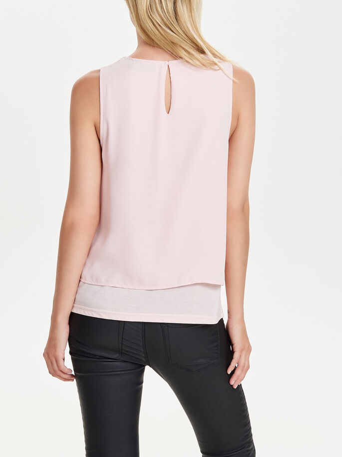 DETAILED SLEEVELESS TOP, Peach Whip, large
