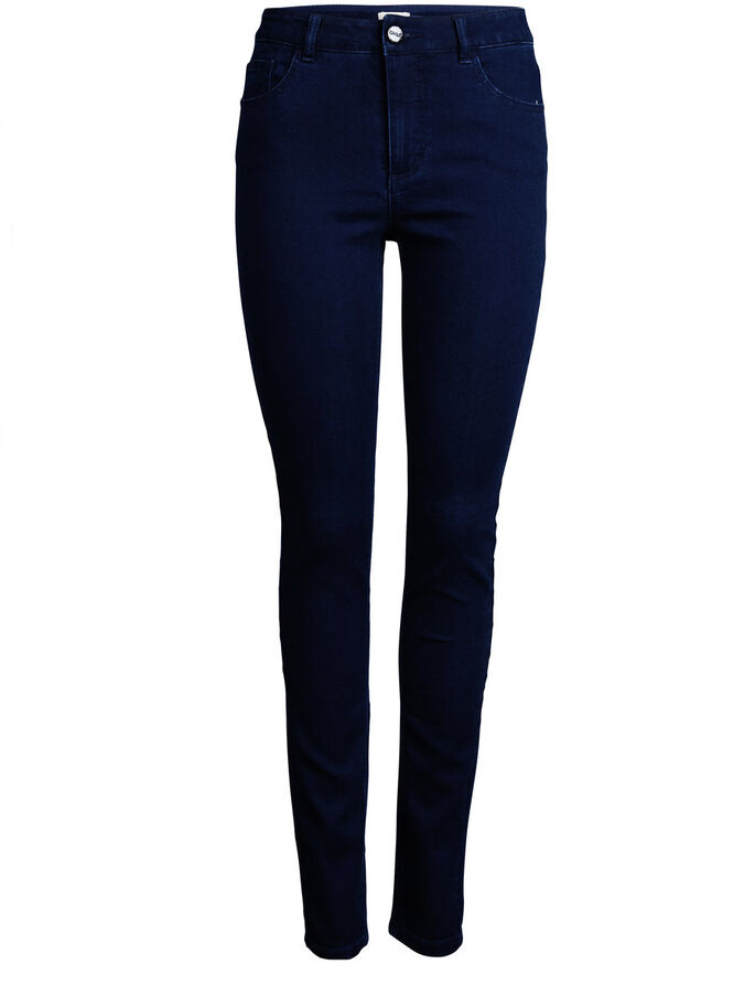 MILA HIGH SKINNY JEANS, Dark Blue Denim, large