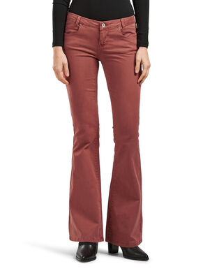 RETRO LOW FLARED TROUSERS