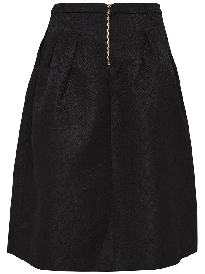 DETAILED MIDI SKIRT, Black, large