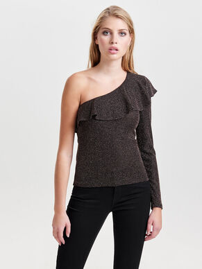 ONE SHOULDER LONG SLEEVED TOP
